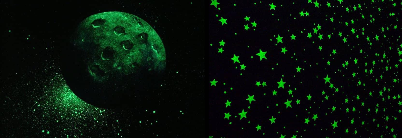 Светящееся звездное небо в интерьере
