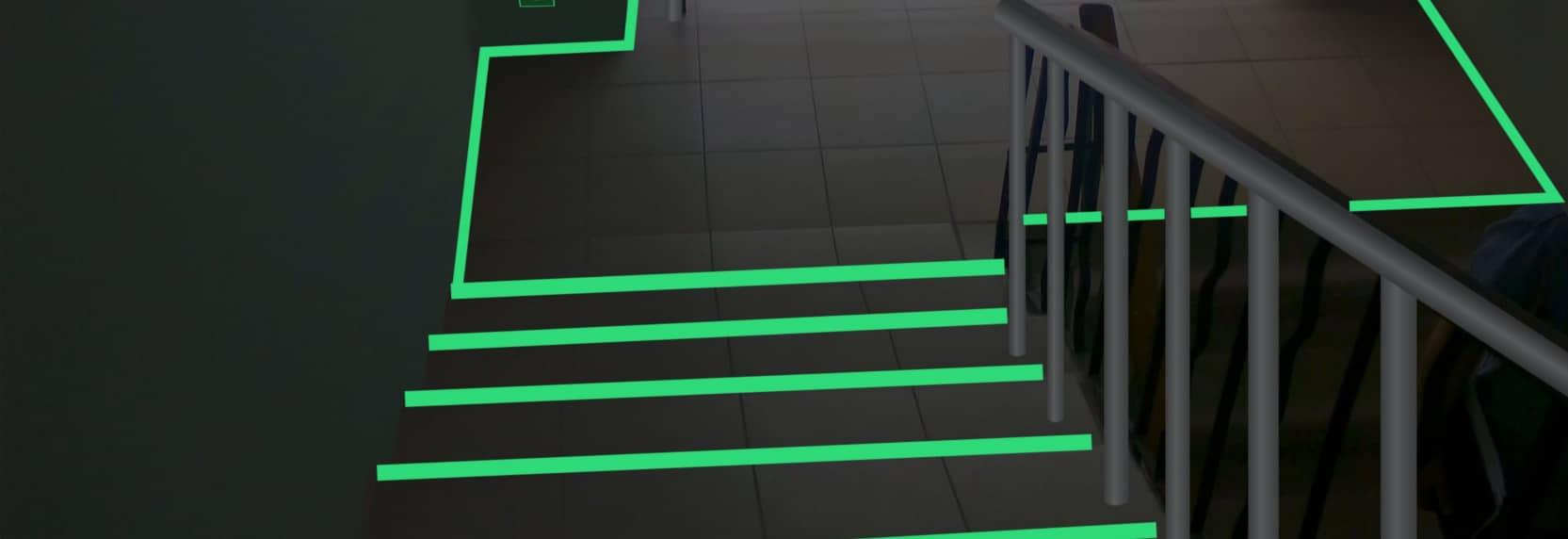 Светящиеся ступеньки и накладки на них