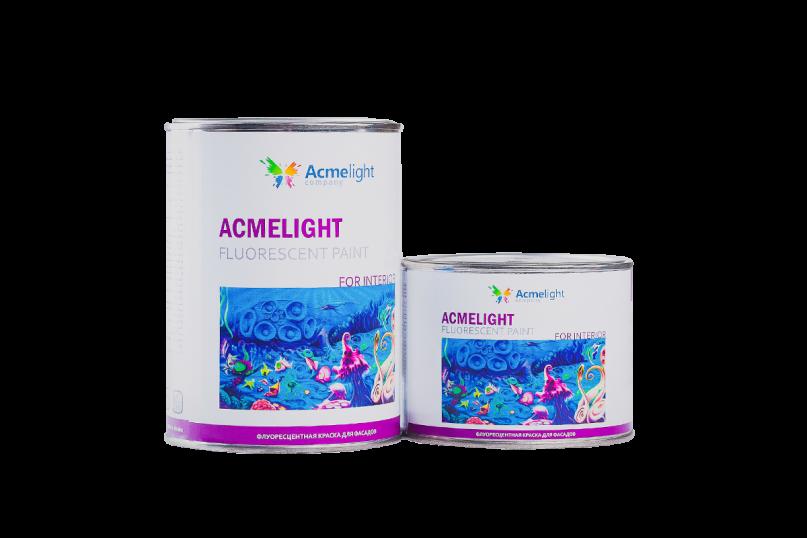 Acmelight Fluorescent paint for Interior - флуоресцентная краска для интерьеров