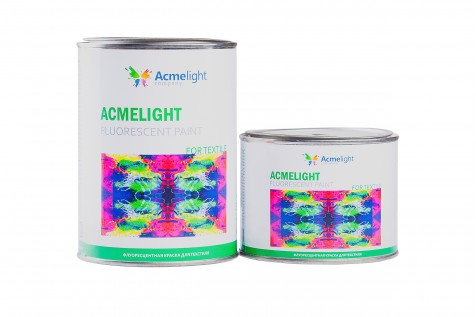 Acmelight Fluorescent paint for Textile - флуоресцентная краска для текстиля