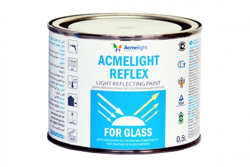 Светоотражающая краска для стекла Acmelight Reflex for Glass